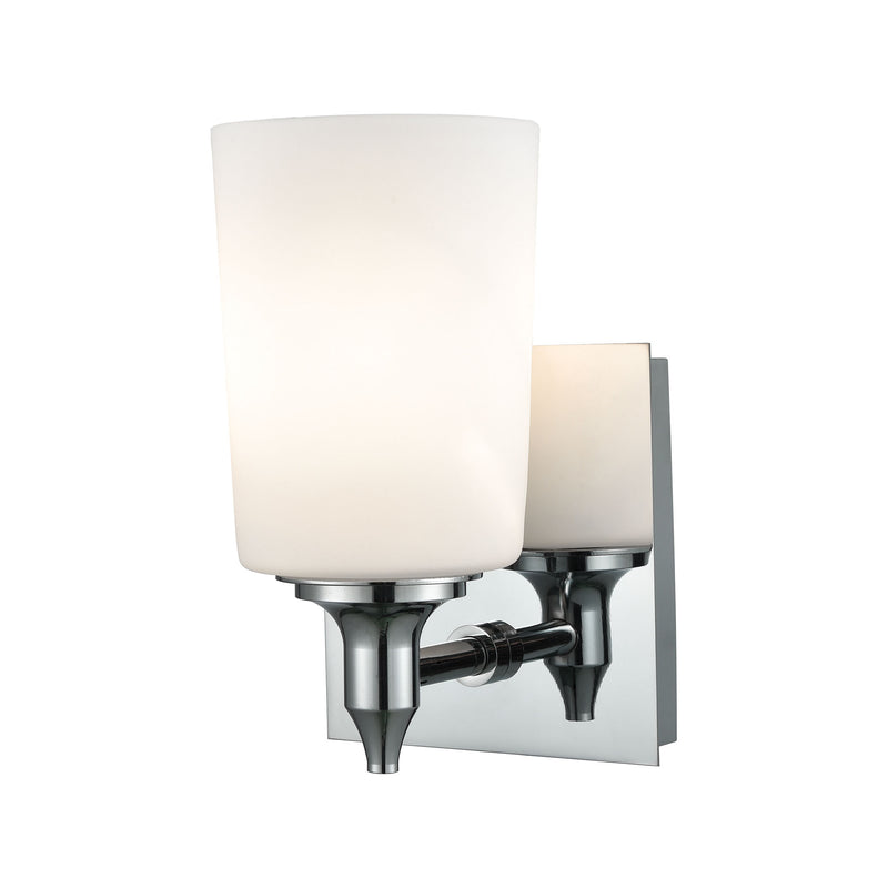 Alton Road 1 Light Vanity In Chrome And Opal Glass - Chrome