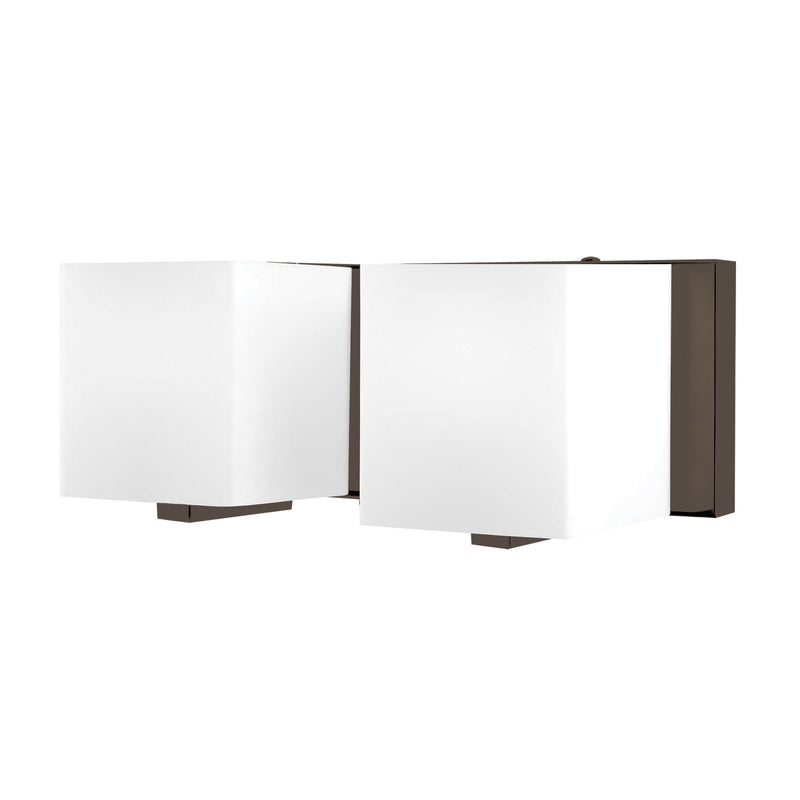 Borg 2 Light Vanity In Oil Rubbed Bronze And White Opal Glass - Oil Rubbed Bronze