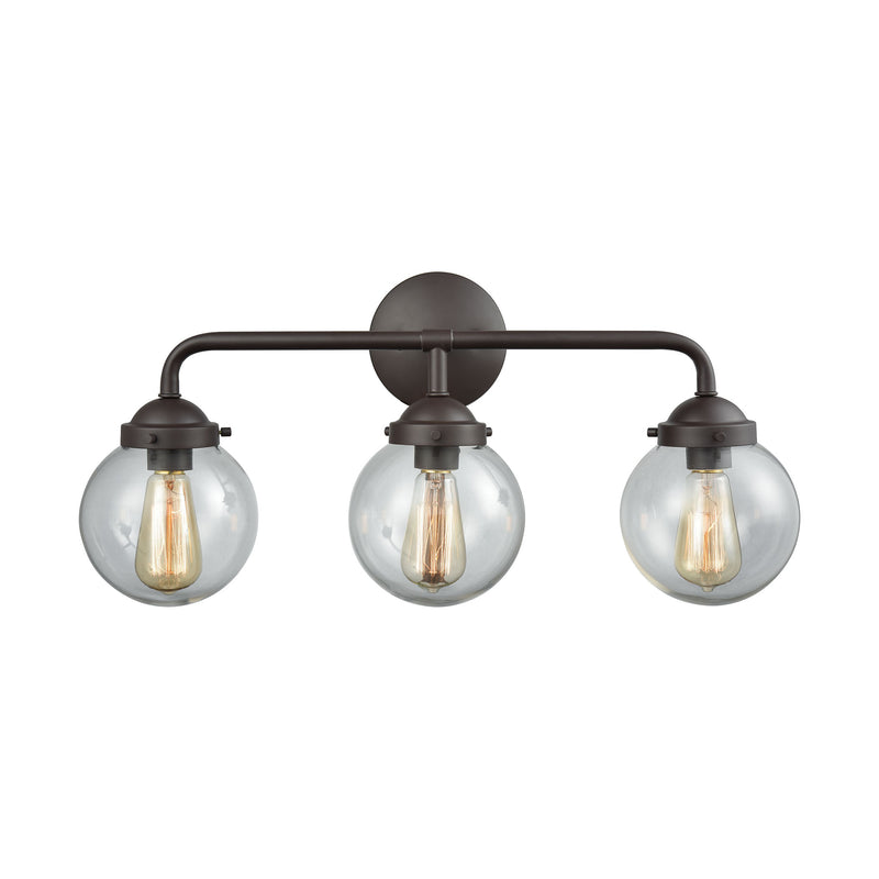 Beckett 3 Light Bath In Oil Rubbed Bronze And Clear Glass - Oil Rubbed Bronze