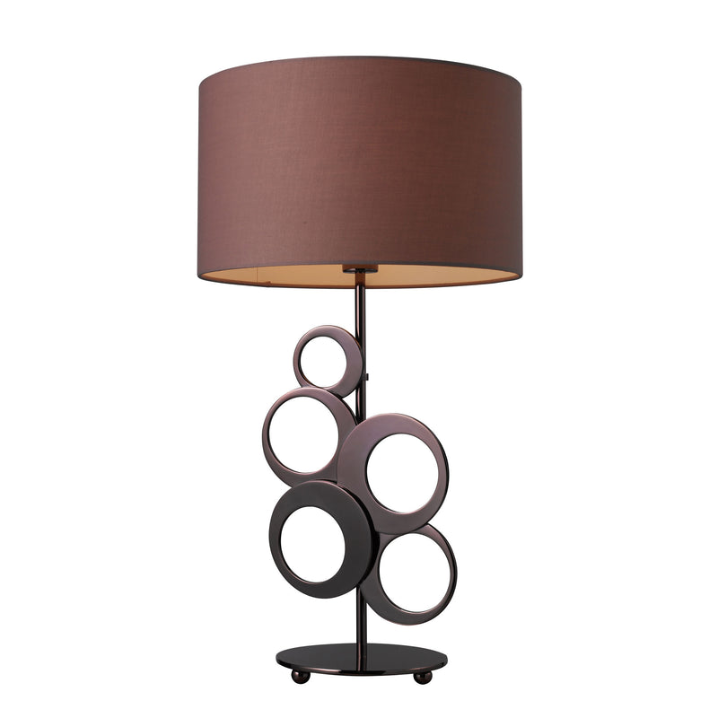 ADDISON 1-LIGHT TABLE LAMP CHOCOLATE PLATED FINISH - Chocolate Plating