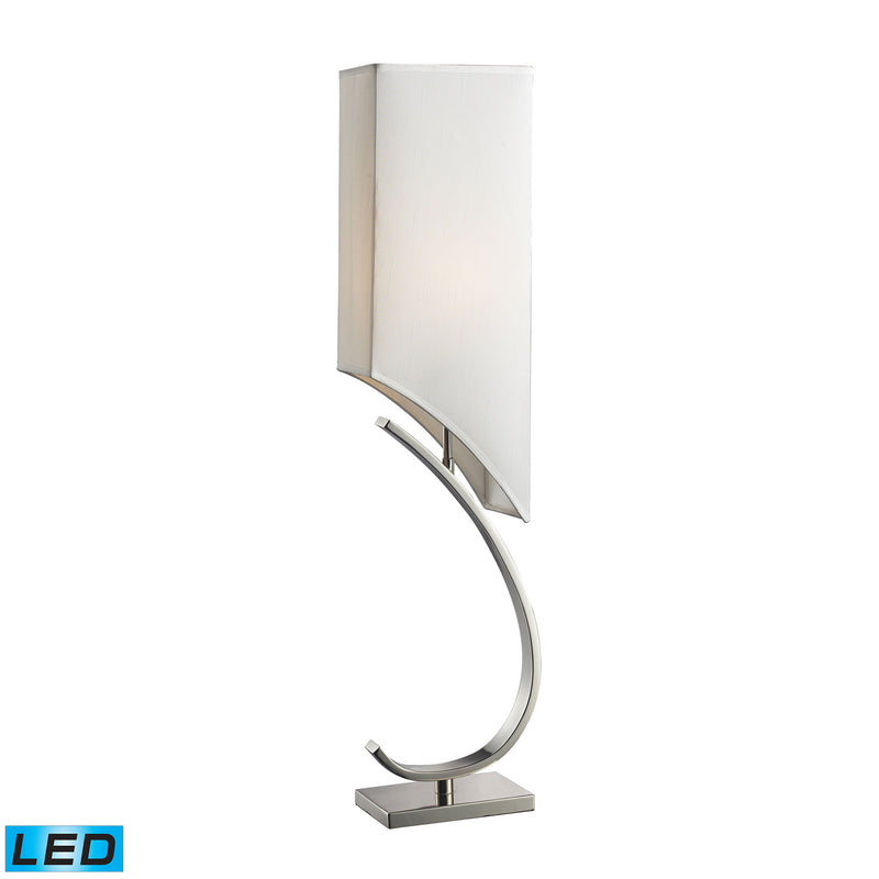 Appleton LED Table Lamp In Polished Nickel With Pure White Shade - Polished Nickel