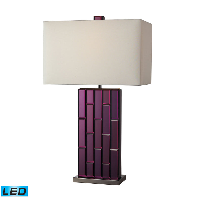 Avalon LED Table Lamp In Purple Mirror And Black Nickel - Purple Mirror,Black Nickel