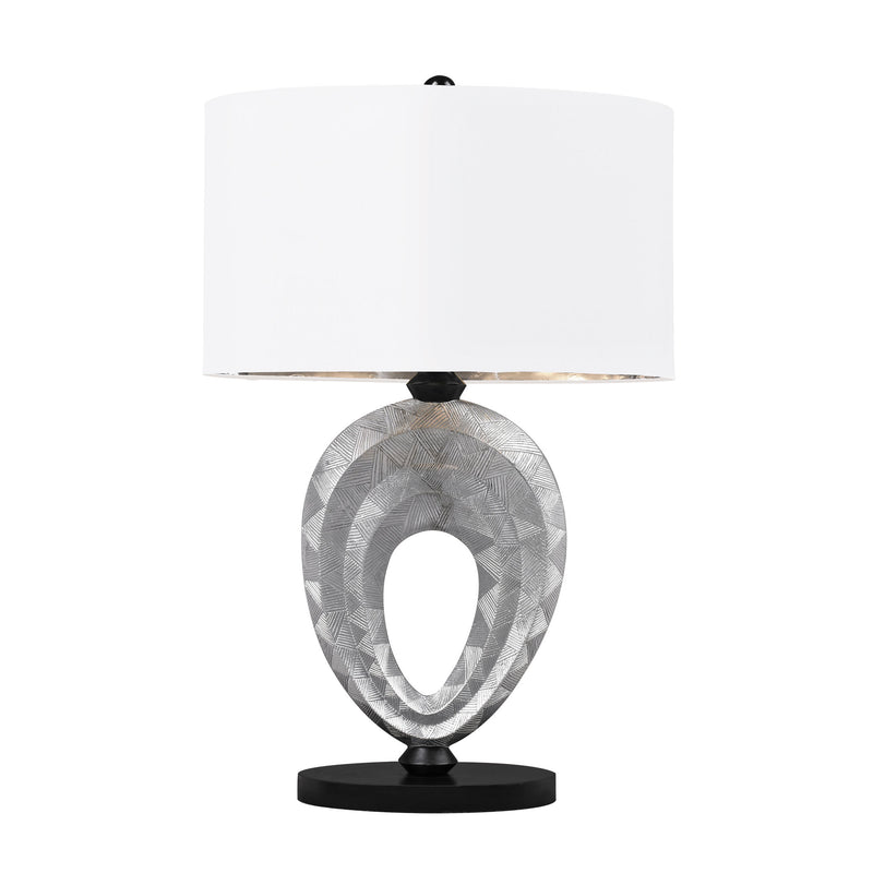 COMPOSITE TABLE LAMP - Silver /Black Paint