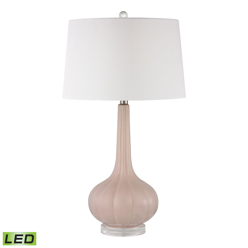 Abbey Lane Ceramic LED Table Lamp in Pastel Pink - Pastel Pink