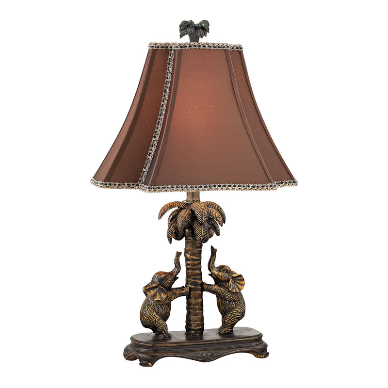 Adamslane Elephant Table Lamp in Bronze - Bridgetown Bronze