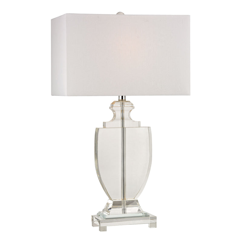 Avonmead Solid Crystal Table Lamp - Clear