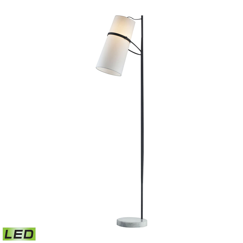 Banded Shade LED Floor Lamp - Matte Black