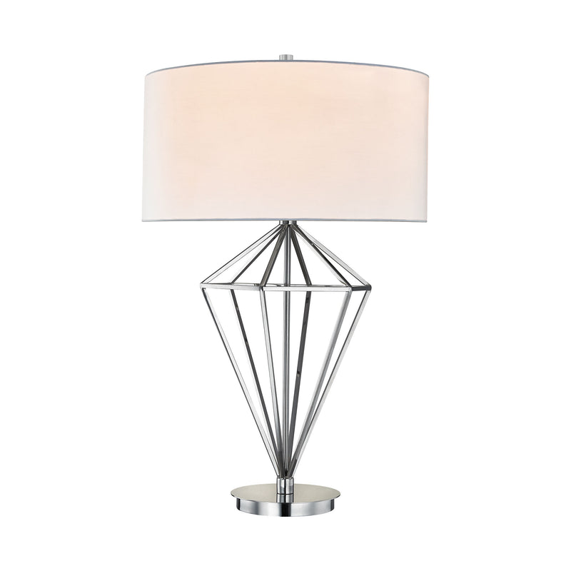 Adele 1 Light Table Lamp In Polished Nickel - Polished Nickel