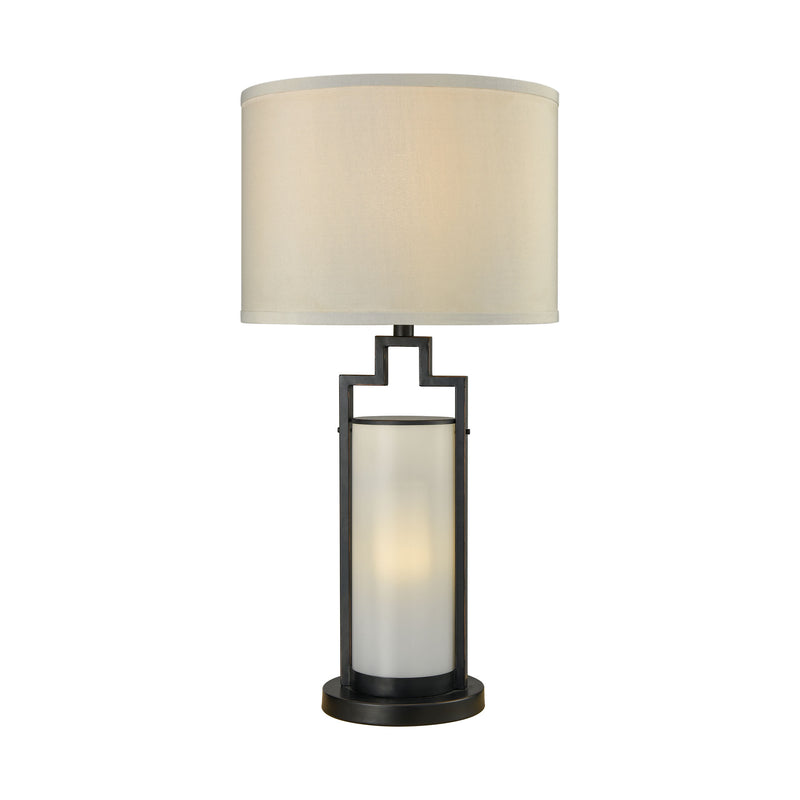 San Rafael Outdoor Table Lamp - Milk Glass