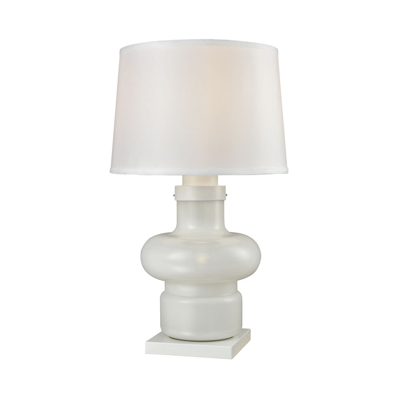 Sugar Loaf Cay Outdoor Table Lamp - Milk Glass