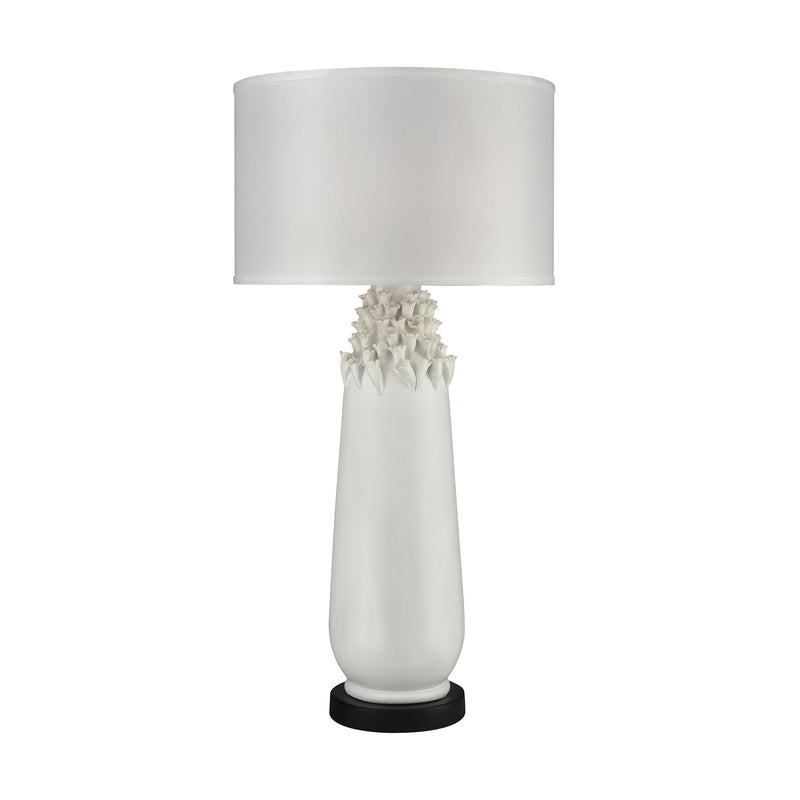 Calla Outdoor Table Lamp - Semi Gloss White
