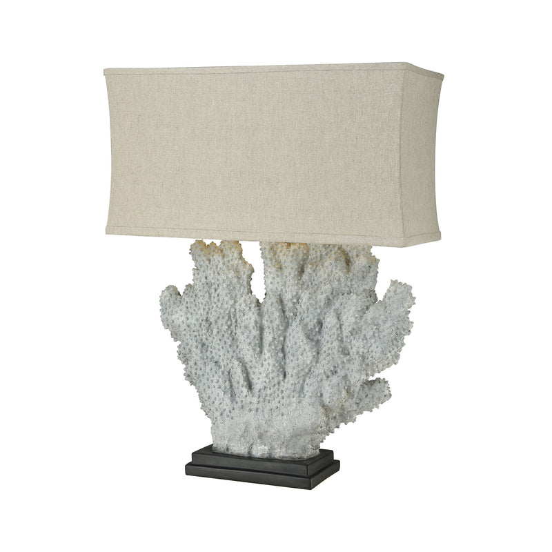 Sandy Neck Oversized Outdoor Table Lamp - Distressed Grey Coral