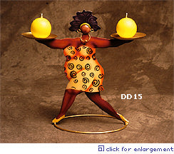 African American Diva Dahlin Candle Stand