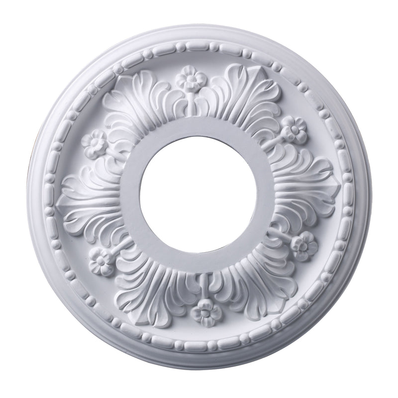 Acanthus 11-Inch Medallion In White Finish - White