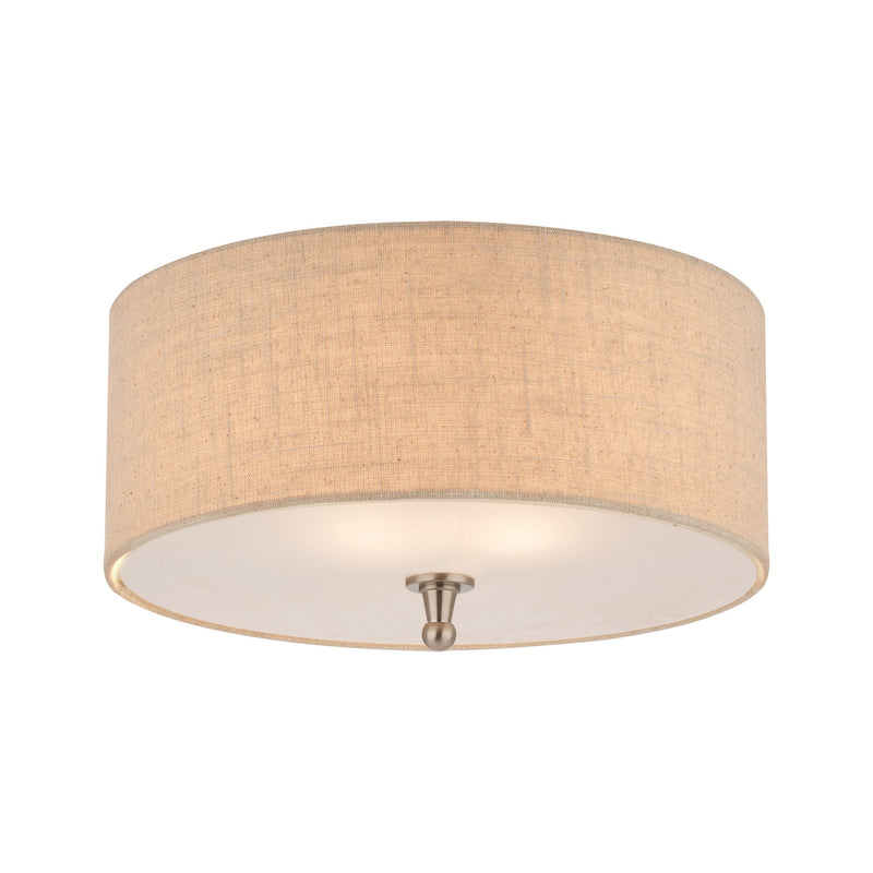 ALLURE ceiling lamp Brushed Nickel 2x60 -