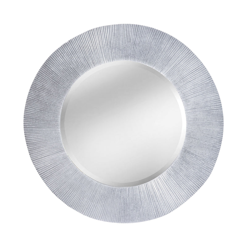 Attra Sculpted Groove Frame Mirror In Bright Silver - Bright Silver