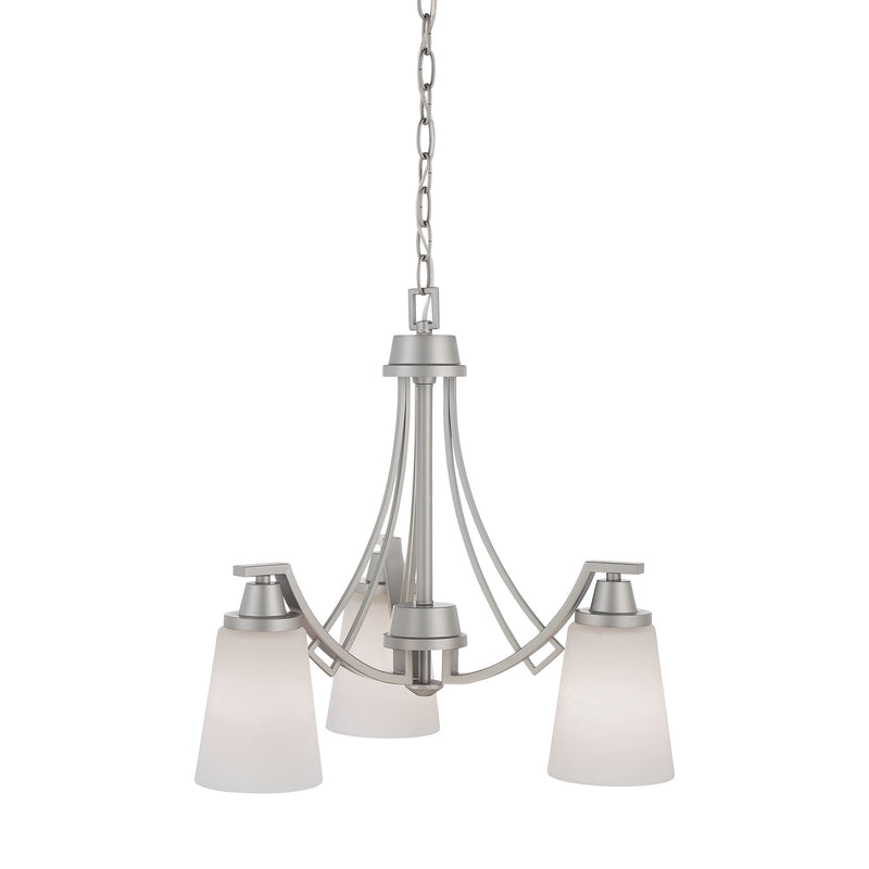 WRIGHT chandelier Matte Nickel 3x100W - Matte Nickel