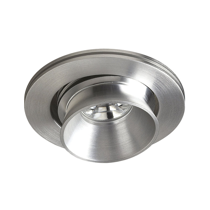 Beacon LED Button Light In Brushed Aluminum - Brushed Aluminum