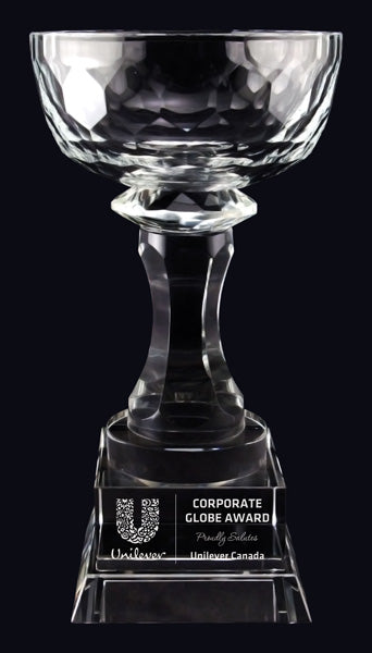 Aspire Bowl Optic Crystal Trophy
