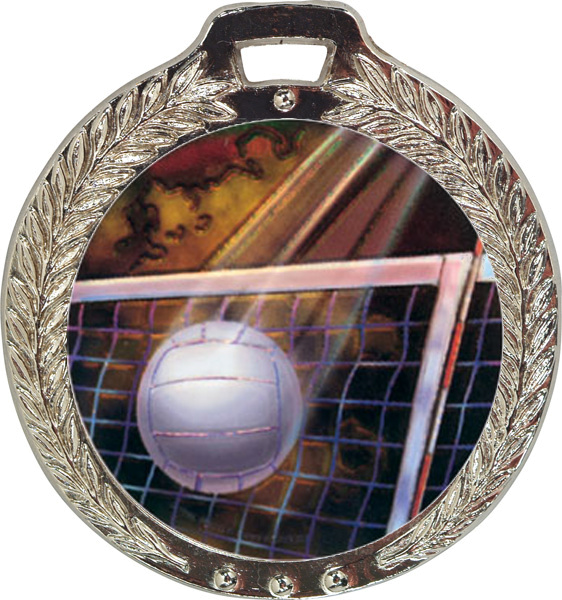 Wreath Mylar Medal - 2-5/8″