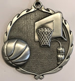 Sculptured Medal - Basketball - 2.5″