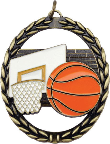 Negative Space Medal – Basketball