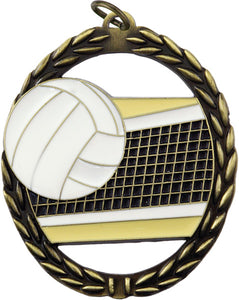 Negative Space Medal - Volleyball