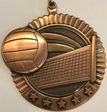 Star Medal - Volleyball - 2.75″