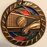 Stained Glass Medal - Volleyball - 2.5″