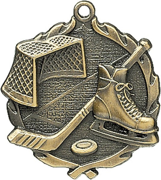 Sculptured Medal - Hockey - 2.5