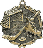 Sculptured Medal - Hockey - 2.5""