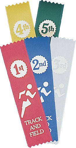 Track & Field Placing Ribbons