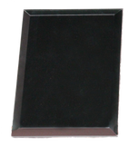 Bevelled Black Glass Plaque