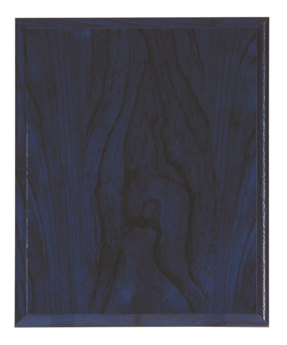 Woodgrain Plaque - Blue