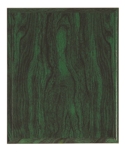 Woodgrain Plaque - Green