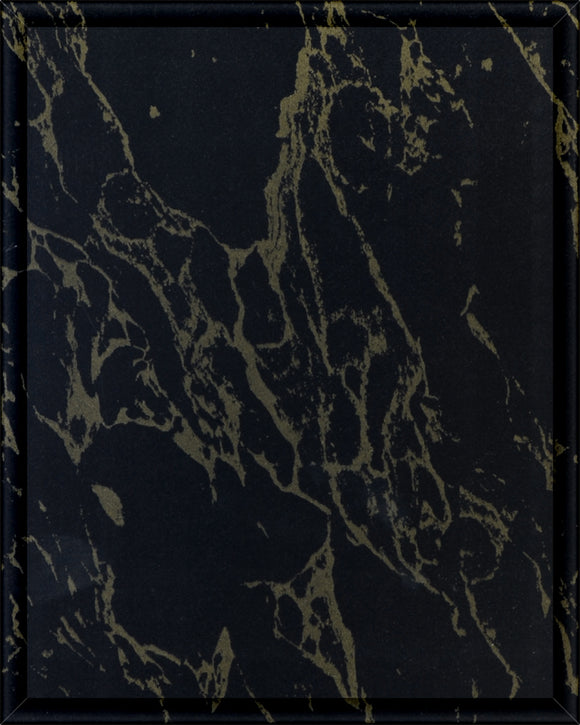 Laminate Plaque Board - Black & Gold Marble