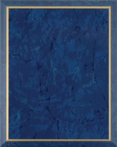 Laminate Plaque Board - Blue Marble with Gold Trim