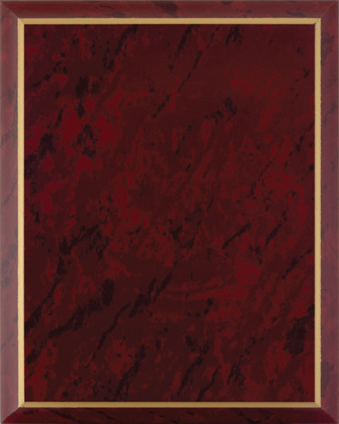Laminate Plaque Board - Ruby Marble with Gold Trim