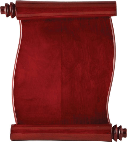Scroll Plaque - Rosewood Piano Finish