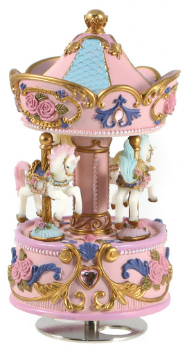 Musical Horse Carousel - Pink