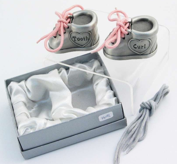 1st Tooth/Curl - Booties w/laces