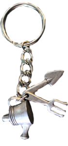 Gardening Tools Keychain - Seagull Pewter