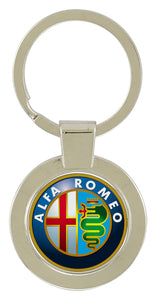 Keychain w/Full color insert - Circle