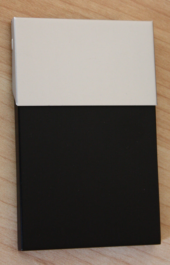 Business Card Case - Black Matte/Chrome