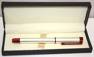 Pen - Maxima RB Pearl white w/red trim