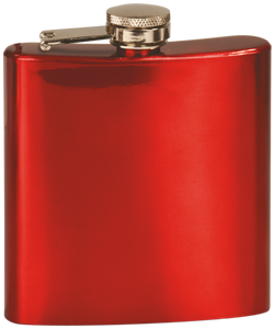 Flask - Shiny Red - 6oz