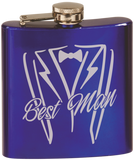 Flask - Shiny Blue - 6oz