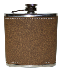 Flask - Brown Leather - 6 oz