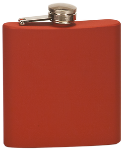 Laserable Flask - Matte Red - 609 - 6 oz