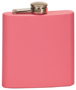 Laserable Flask - Matte Pink - 611 - 6 oz